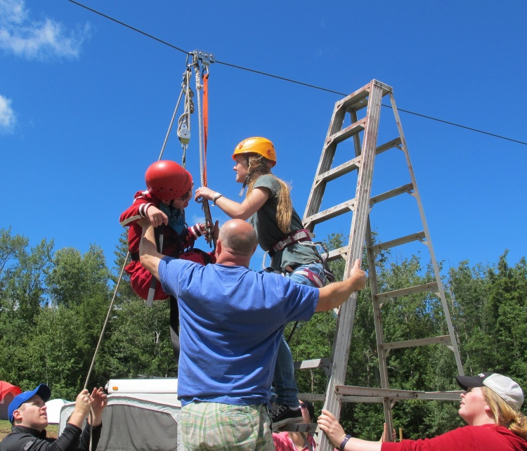 A number of counsellors made it possible for Deane to go zip lining. Unfortunately, he only had leaving on his mind.