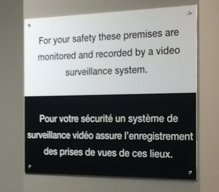 This sign - posted in many locations - added to the feeling you were not to be trusted.